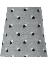 Marco De Vincenzo Losange Patterned Mini Skirt Grey