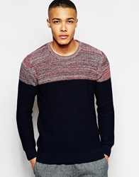 Junk De Luxe Jumper Contrast Colour Block Navy