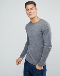 Tom Tailor Jumper With Blue Stripe 2803 Grey