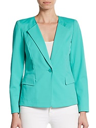 Lafayette 148 New York Janelle Fitted Blazer Garden Blue