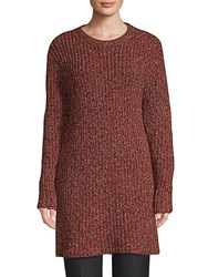 Valentino Ribbed Long Sleeve Tunic Red
