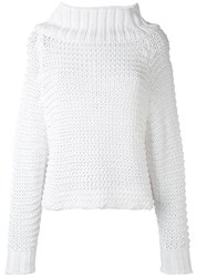 Calvin Klein Collection Chunky Knit Jumper Women Cotton Xs White