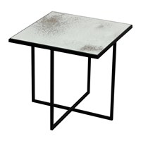 Notre Monde Surface Square Coffee Table Metallic Bronze Silver