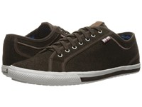 Ben Sherman Chandler Lo Coated Canvas Brown Men's Lace Up Casual Shoes