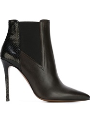L'autre Chose Stiletto Heel Ankle Boots Black