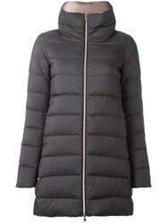 Herno Zip Up Padded Coat Grey