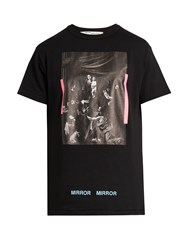 Off White Caravaggio Cotton Jersey T Shirt Black Multi
