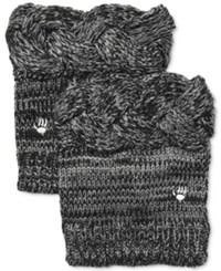 Bearpaw Cable Knit Boot Toppers Women's Shoes Charcoal