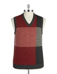 Brooks Brothers Red Fleece Knit Wool Blend Vest Grey