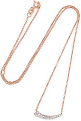 Anita Ko Small Floating 18 Karat Rose Gold Diamond Necklace