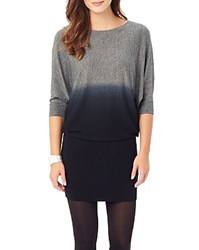 Phase Eight Becca Dip Dye Batwing Dress Black
