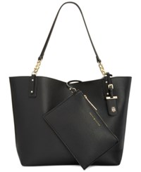 Tommy Hilfiger Reversible Gabby Double Sided Tote Black Black