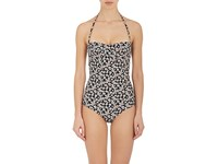 Tomas Maier Women's Floral Print One Piece Swimsuit Black