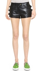 Moschino Cheap And Chic Leather Shorts Black