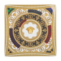 Versace Baroque And Roll Square Dish Gold