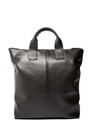 Campbell Cole Leather Tote Bag Black