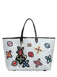 V73 Flower Printed Coated Canvas Tote
