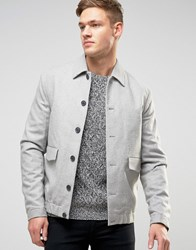 New Look Harrington Jacket In Stone With Revere Collar Stone
