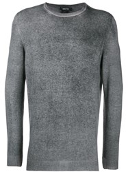 Avant Toi Fine Knit Sweatshirt Grey