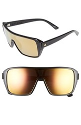 Electric Eyewear Women's Electric 'Blast' 60Mm Shield Sunglasses Gloss Black Grey Gold Chrome
