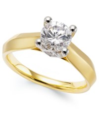 Macy's Certified Diamond Solitaire Engagement Ring In 14K White Or Yellow Gold 1 Ct. T.W.