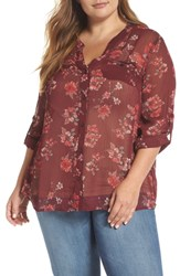 Kut From The Kloth Plus Size Floral Print Blouse