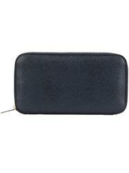 Valextra Zip Around Wallet Blue