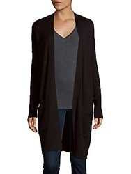Bcbgeneration Ribbed Open Front Cardigan Black