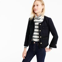 J.Crew Petite Cropped Lady Jacket With Gold Buttons