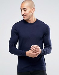 Ted Baker Cashmere Mix Crew Neck Jumper Navy