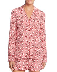 Stella Mccartney Poppy Snoozing Pajama Set Red Hearts Lips Print