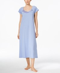 Charter Club Satin And Mesh Trim Nightgown Only At Macy's Easter Egg Blue