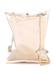Anya Hindmarch Metallic Crisp Packet Clutch Metallic Gold