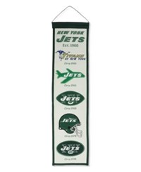 Winning Streak New York Jets Heritage Banner Team Color