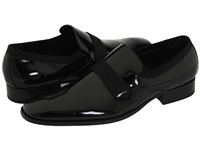 Calvin Klein Guilford Black Patent Grosgrain Men's Slip On Dress Shoes