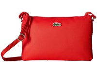 Lacoste L.12.12 Concept Flat Crossover Bag High Risk Red Cross Body Handbags Multi