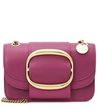 See By Chloe Hopper Small Leather Shoulder Bag Purple