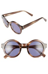 Derek Lam Women's 'Luna' 47Mm Round Sunglasses Brown Feather