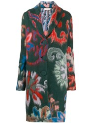 Tory Burch Floral Print Single Breasted Coat 60
