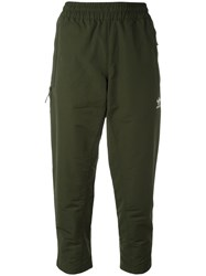 Adidas 'Fallen Future' Cropped Track Pants Green