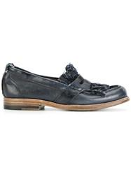 Sartori Gold Distressed Loafers Buffalo Leather Wool Leather Rubber Blue