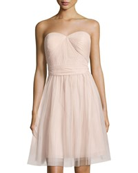 Marina Pleated Strapless Sweetheart Dress Blush
