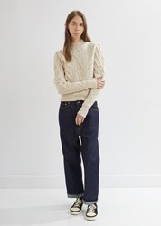 Chimala Selvedge Wide Tapered Cut Jeans Rinse