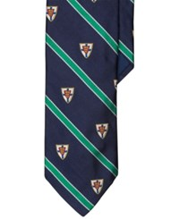 Polo Ralph Lauren Narrow Club Silk Tie Navy