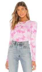Generation Love Josephine Top In Pink. Pink And White