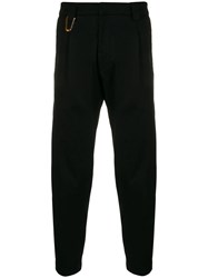 Low Brand Cropped Slim Trousers Black