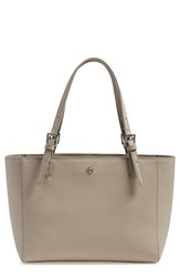 Tory Burch 'Small York' Saffiano Leather Buckle Tote Grey French Grey