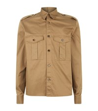 Maison Martin Margiela Cotton Cargo Shirt Male Beige