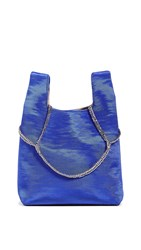 Hayward Mini Shopper Tote On A Chain Cobalt