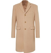 Enlist Virgin Wool And Modal Blend Coat Beige
